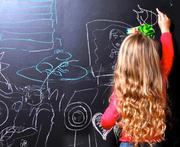 Меловые и маркерные обои для развития рисования у детей.