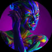 Аквагрим флуоресцентный для тела,  бодиарт